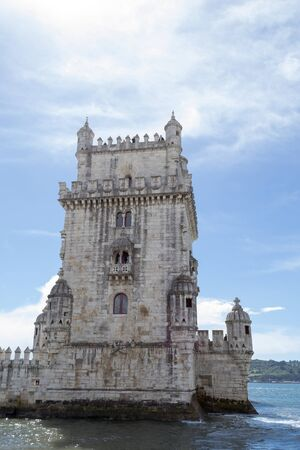Belem tower was built in 1519 to protect the entrance of the Targus river in Lisbon (Portugal)