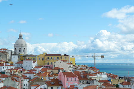 Alfama is the oldest district in Lisbon (Portugal)