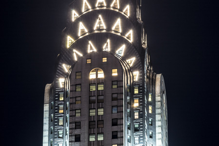 The Chrysler building is a reference in art deco style and one of the historic landmarks of NYC