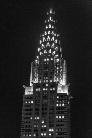 42nd: The Chrysler building is a reference in art deco style and one of the historic landmarks of NYC