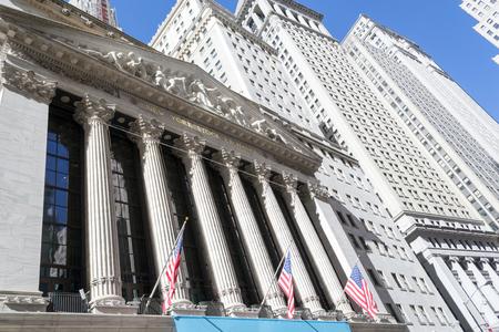 New York Stock Exchange from Broad street, Manhattan Editorial