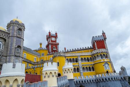 Palacio da Pena is a romanticist castle integrated into the cultural landscape of Sintra (Portugal) Editorial