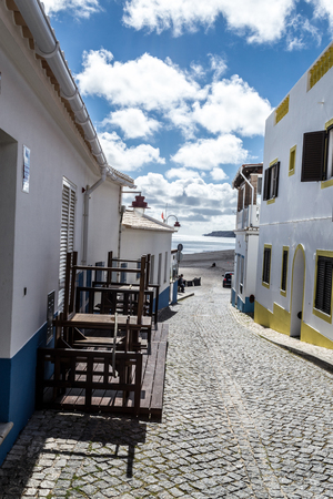 Salema is a fisherman town very popular among tourists during the summer months Stock Photo