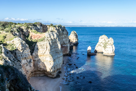 Ponta da Piedade in Lagos (Portugal) is one of the main tourist destinations in the Algarve