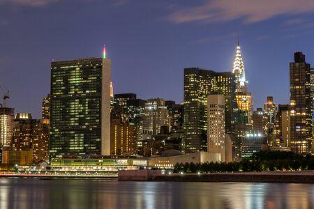 NYC midtown skyline from Long Island City Stock Photo