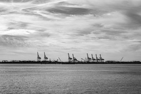Commercial harbor in Staten island