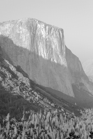 Views of El Capitan at Yosemite valley from the scenic Tunnel view  viewpoint