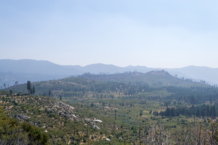 Sierra Nevada suffers frequent fires during the dry summer months