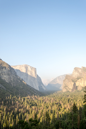Panoramic view of Yosemite valley from the scenic Tunnel view  viewpoint