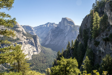 Half Dome views while hiking the 4 mile trail at Yosemite National Park