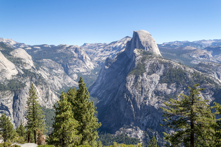 Glacier Point at Yosemite National Park offers breathtaking views of the valley