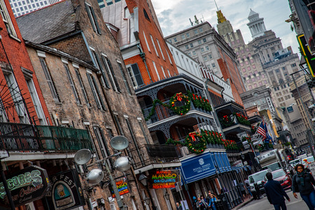 Bourbon street is the most famous street and tourist attraction of New Orleans (USA)