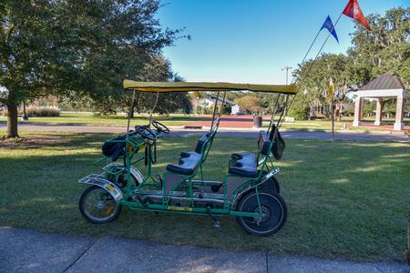 Bike riding around New Orleans City Park Stock Photo