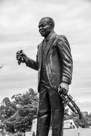 Louis Armstrong park located in the Treme neighborhood in New Orleans (USA)