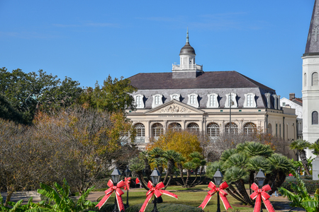 Jackson Square in New Orleans (USA) is National Historic Landmark since 1960 Stock Photo