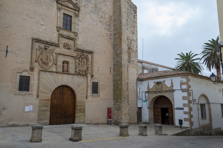Facade of St. Francis Convent in Trujillo (Spain)