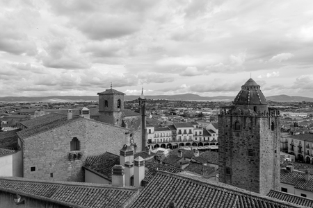 Views of Trujillo from the Castle (Spain)