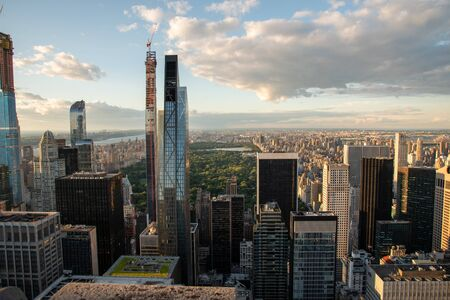 Central Park and North Manhattan seen from the top of the Rockefeller Center (NYC, USA) Foto de archivo