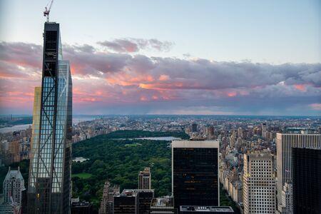 Central Park y North Manhattan vistos desde lo alto del Rockefeller Center (Nueva York, EE. UU.)