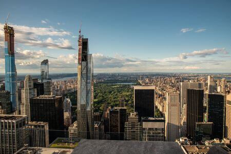 Central Park and North Manhattan seen from the top of the Rockefeller Center (NYC, USA)
