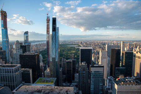 Central Park et North Manhattan vus du haut du Rockefeller Center (NYC, USA) Banque d'images