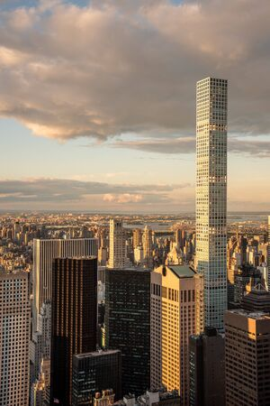 432 Park Avenue in NYC is the tallest residential building in the world Stock Photo