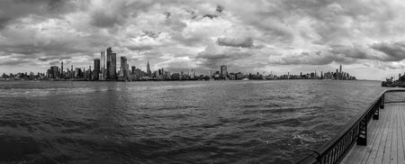 Manhattan on a cloudy afternoon as seen from Hoboken