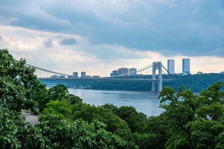 Views of the Washington bridge between NJ and Manhattan from Washington heights
