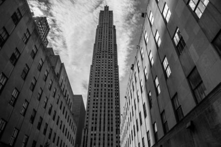The Rockefeller Center with the Rockefeller plaza in the heart of Manhattan