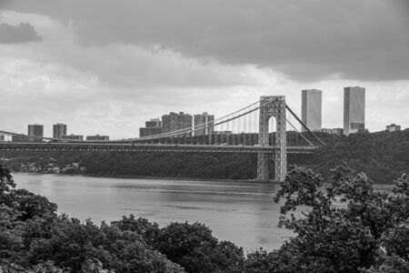 Views of the Washington bridge between NJ and Manhattan from Washington heights
