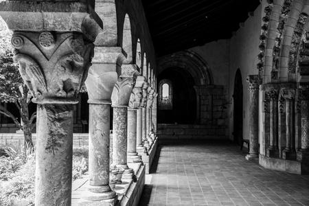 European medieval cloister in Washington heights in Manhattan (NYC)