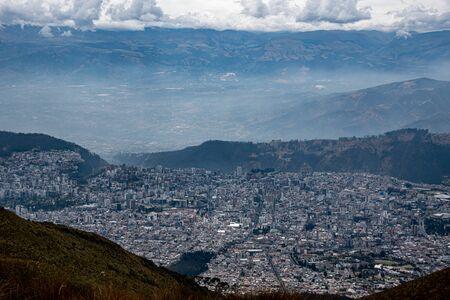 Panorama of Quito from the Ruku Pichinca volcano (15,413 ft)
