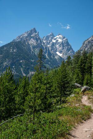 Hiking trail around Jenny Lake at the Grand Teton National Park