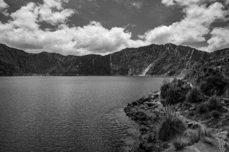 Panorama of the Quilotoa volcano with its water-filled caldera (Ecuador) Reklamní fotografie