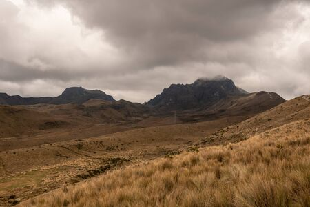 Wawa Pichinca volcano (15,696 ft) from the Ruku Pichinca volcano (15,413 ft) in Quito (Ecuador)