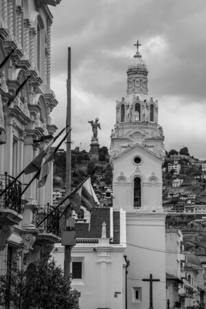 Entrance to the independence square in Quito where the Cathedral is located