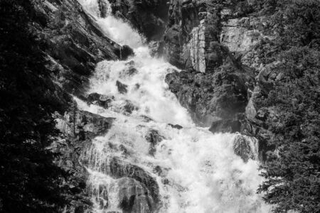 Hidden falls on a hike to inspiration point at the Grand Teton National park