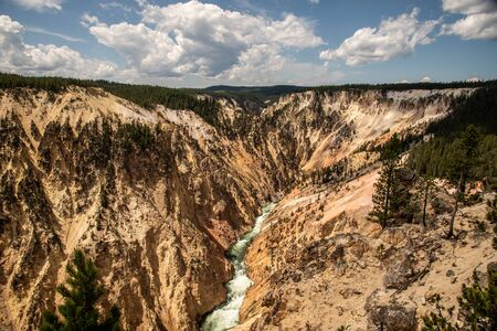 Grand Canyon of Yellowstone carved by the Yellowstone river