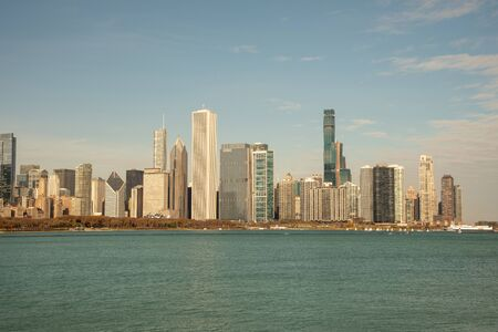 Downtown views of Chicago, the third most populated city in the US. Banque d'images