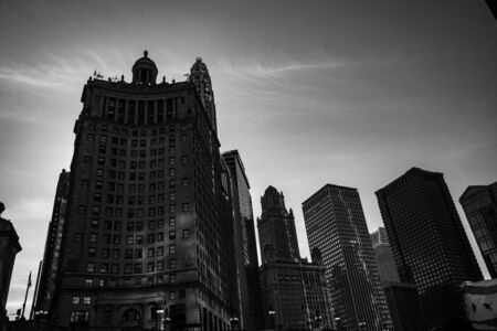 35 East Wacker in Chicago (IL, USA) Banque d'images