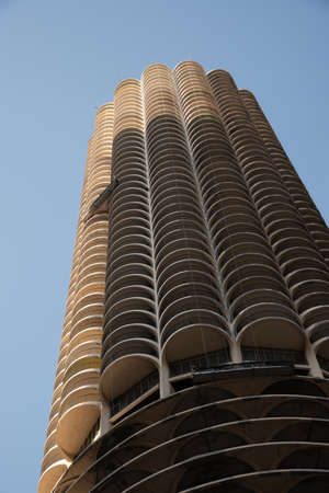 Chicago, IL, USA - November 9th 2019 - Chicago is known for its skyscrapers among which Marina City is one of the icons 新闻类图片