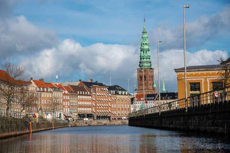 Saint Nicholas former Church now a Contemporary Art Center in Copenhagen (DK) 免版税图像