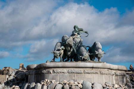 Fountain depicting the Norse goddess Gefjon in Copenhagen