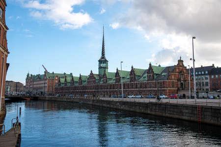 Former stock exchange building of Copenhagen (DK) 免版税图像