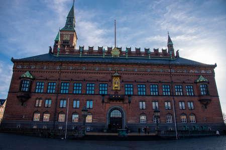 Facade of the city hall in Copenhagen (DK) Imagens