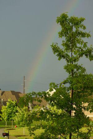 Rainbow over subdivision