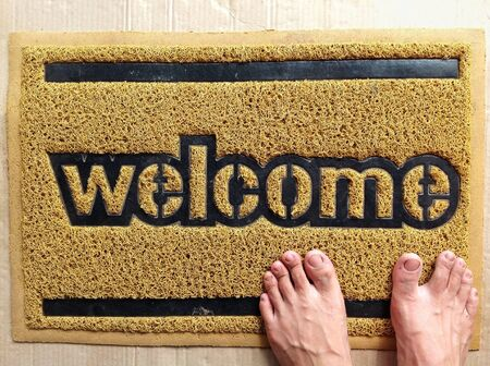 welcome mat: Welcome mat Stock Photo