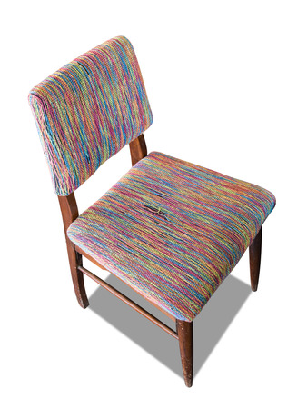 Modern yarn chair with clipping path photo