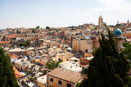 overview over the old town of Jerusalem Stock Photo