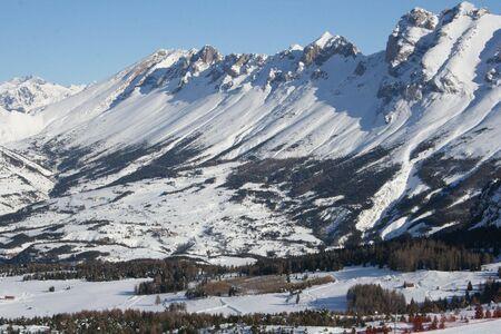 La Joue du loup montagnes en hiver  Banque d'images